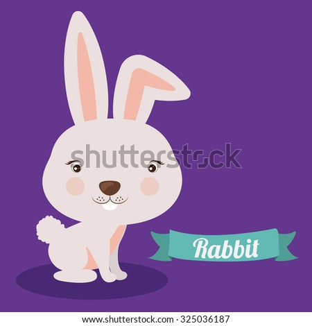 Little animal concept about cute rabbit design, vector illustration eps 10