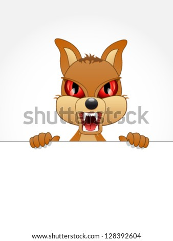 little bad dog - vector illustration - stock vector