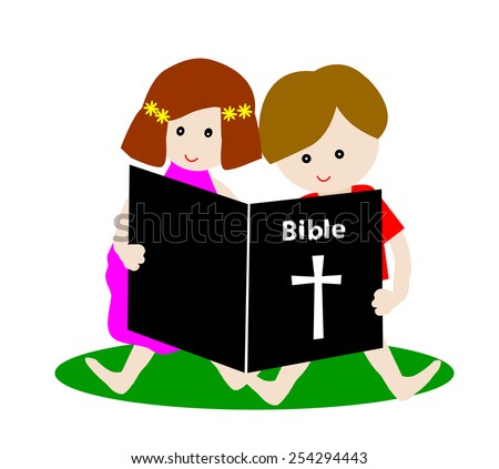 Woman Reading Bible Clip Art