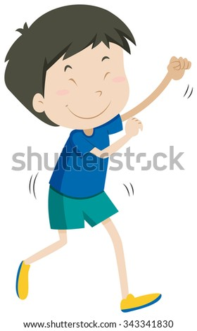 Little boy with happy face illustration