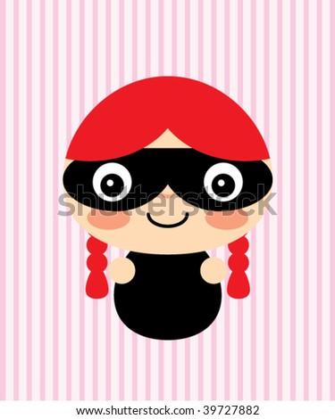 little burglar girl - stock vector