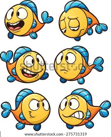 little cartoon fish vector clip art stock photo photo vector rh shutterstock com facial expressions clipart facial expressions clipart
