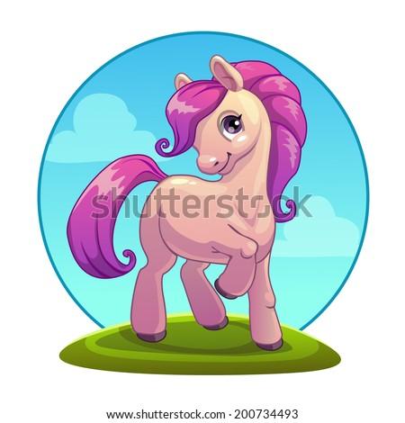 Cute cartoon pony