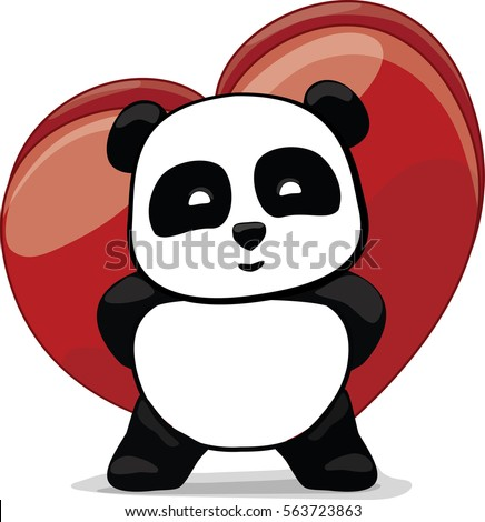 Little Cute Panda Hidden Gift. Box Of Candies. Heart For Valentineu0027s ...