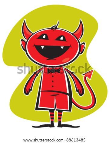 Little Devil - stock vector