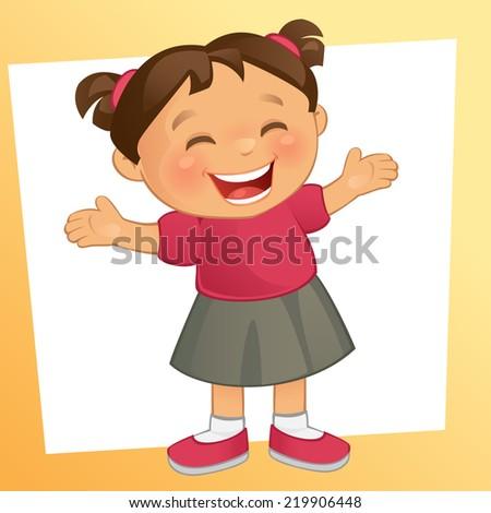 Little Girl - stock vector