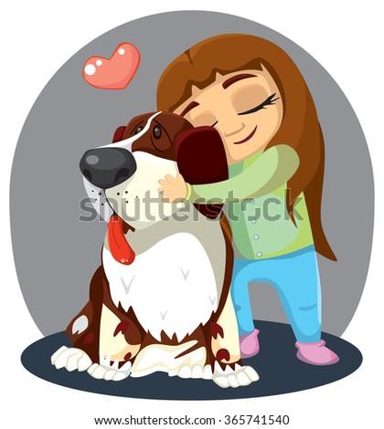Little Dog St Bernard Stock Vector (2018) 365741540 ...