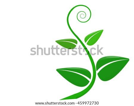little green fresh plant. Vector illustration - stock vector
