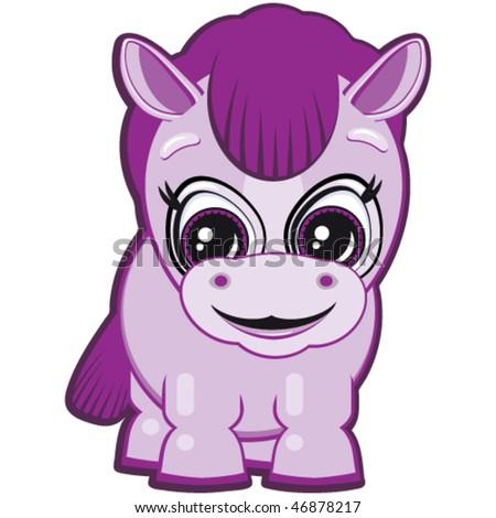Little Horse - stock vector