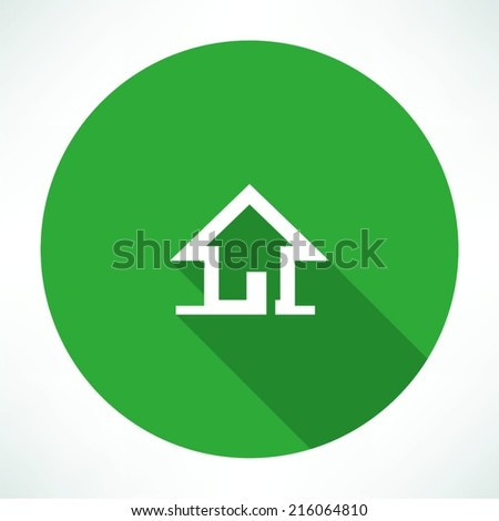 little house icon - stock vector