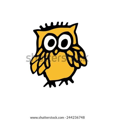 Little owl. - stock vector