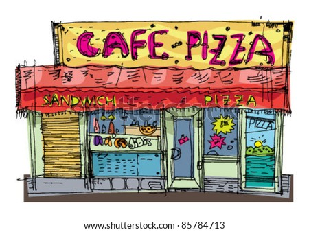 little pizzeria - cartoon