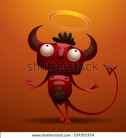 Little Red Devil, vector 05 - stock vector