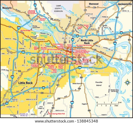 Little Rock Arkansas Stock Images RoyaltyFree Images Vectors - Little rock usa map