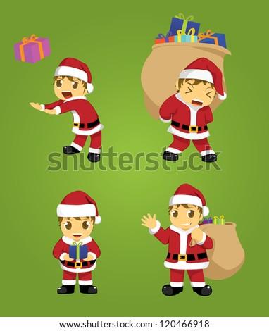 little santa - stock vector