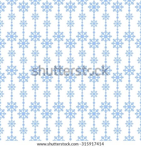 Little snowflakes blue on a white background vector seamless pattern. Christmas background - stock vector
