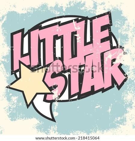 little star pop art background, illustration in vector format - stock vector