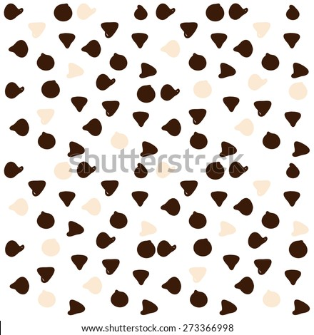 Little sweet chocolate chips - stock vector