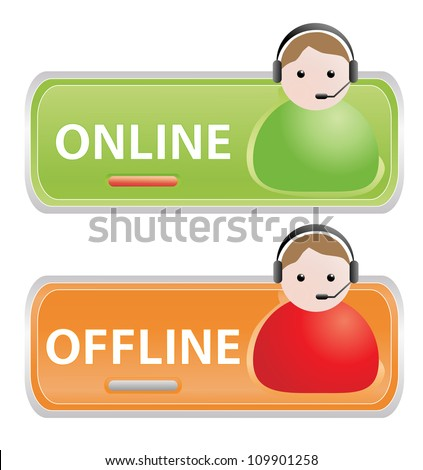 Live help signs - stock vector