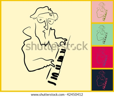 Live Jazz & Blues - stock vector