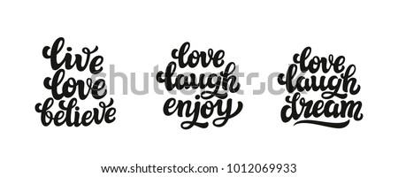 Live Love Laugh Quote Inspiration Live Love Laugh Quote Stock Images Royaltyfree Images & Vectors