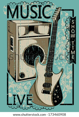 Live music - stock vector