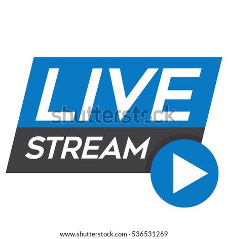 Vetor stock de live streaming tv broadcast icon vector livre de live streaming tv broadcast icon vector logo design element stopboris Images