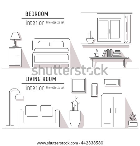 Living Room And Bedroom Interior Design Elements