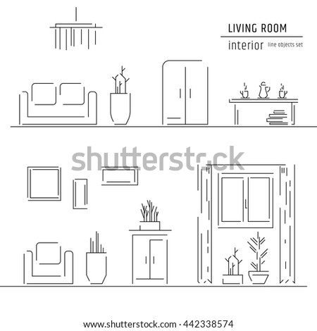 Interior Design Elements Living Room Interior Design Elements Sofa Stock Vector 443914948 .