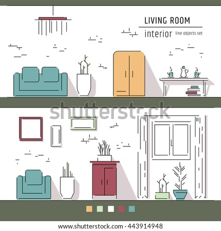 Living Room And Interior Design Elements