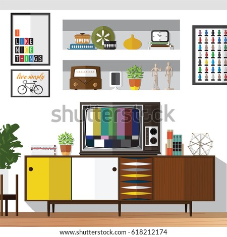 Design Concepts Furniture concepts furniture Living Room Furniture Design Concept Set With Modern Home Interior Elements Isolated Vector Illustration