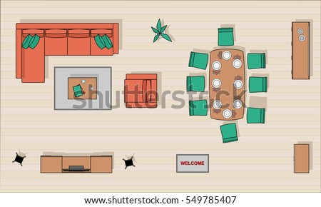 living room top view comfortable chair stock images royalty free images 14256