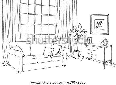 Aluna1 39 s portfolio on shutterstock for Living room interior sketch