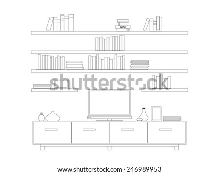 Living room furniture isolated stock photos royalty free for Living room outline