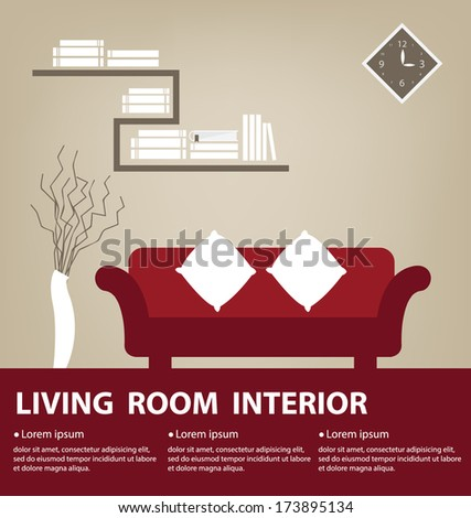 Living Room vector illustration - stock vector