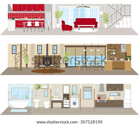 Living space - stock vector
