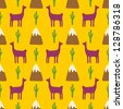 llama background - stock vector