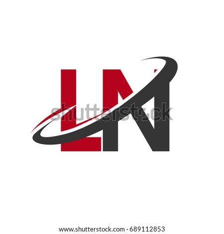 Ln Initial Logo Company Name Colored Stock Vector Hd Royalty Free