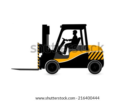 loader on a white background - stock vector