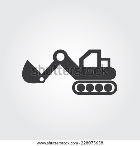 loader vector icons on gray background  - stock vector