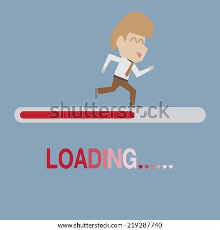 loading  - stock vector