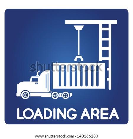 loading area - stock vector