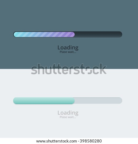 Loading Bar. Loading Bar electric. Loading Bar for ui and ux design. Loading Bar sliders. Loading Bar for web site. Loading Bar for mobile app. Loading Bar on white and black background - stock vector