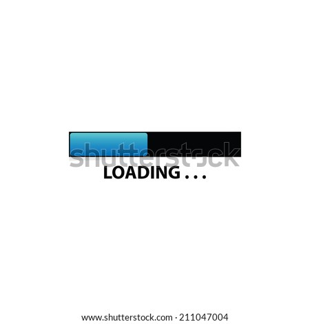 loading concept illustration - stock vector