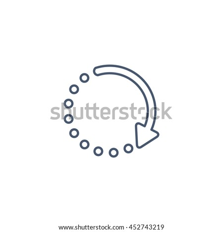 loading icon button flat style long stock vector royalty free