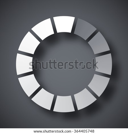 Loading icon, vector illustration - stock vector