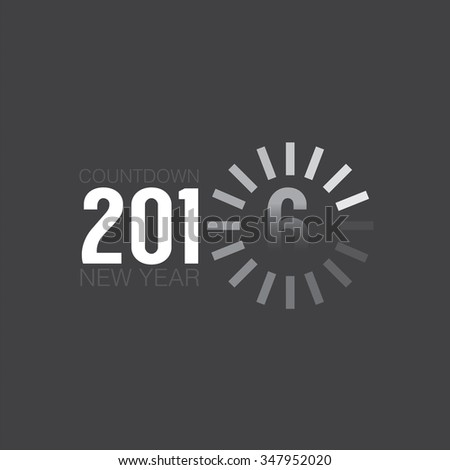 Loading Of 2016 Countdown Vector Illustration - stock vector