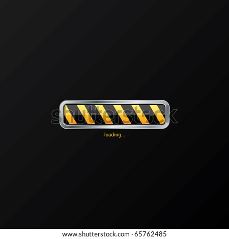 Loading progress indicator - stock vector