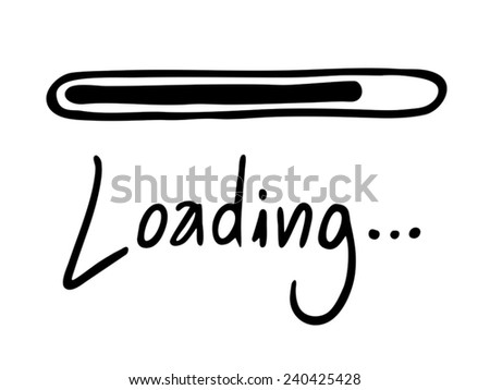 Loading vector message - stock vector