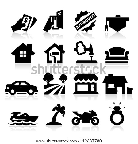 Loan Type icons - stock vector